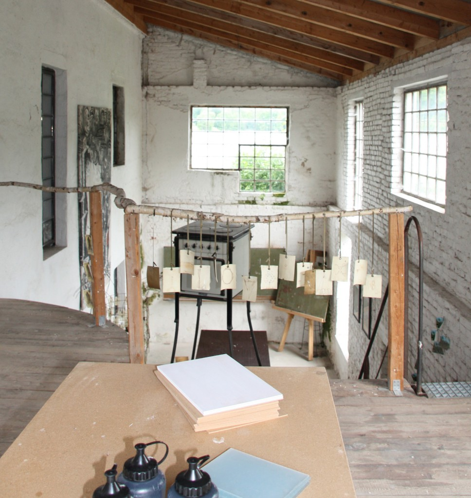 Wulff's studio at the mill