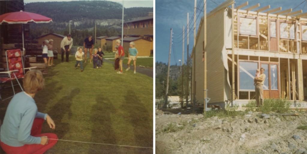 Foto Nina Christiansen Potetløp og husbygging