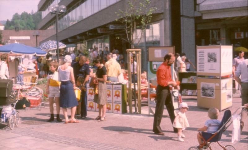 Sandvika, Gågaten, Helgerudgården, 1978. Arkivfoto fra Bærum Bibliotek