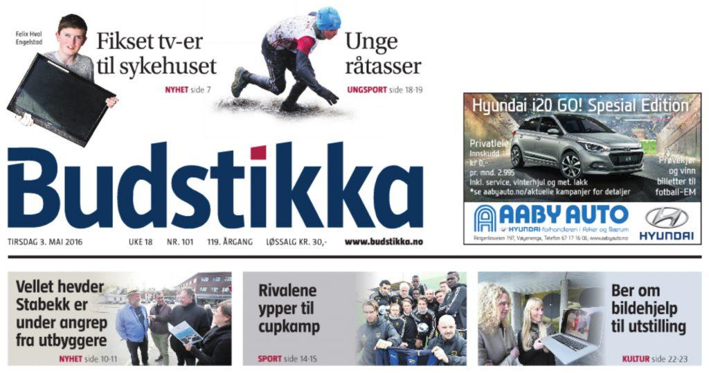 2016.05.03 Budstikka_Forsiden